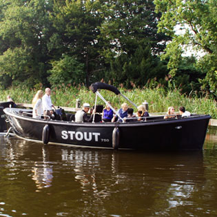 Boottocht met Stout II in Rotterdam